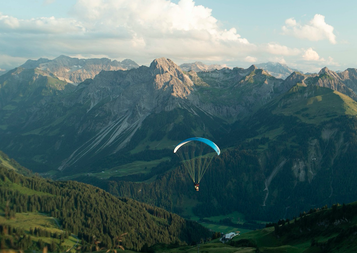 paragliding with dog
